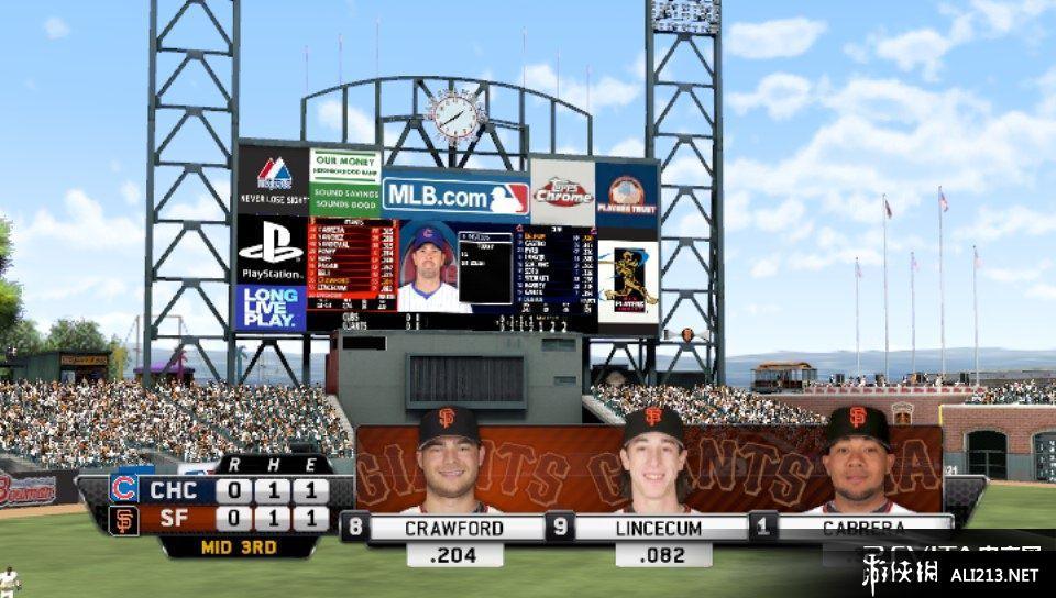 《MLB美国职业棒球大联盟 12》PSV截图(1)