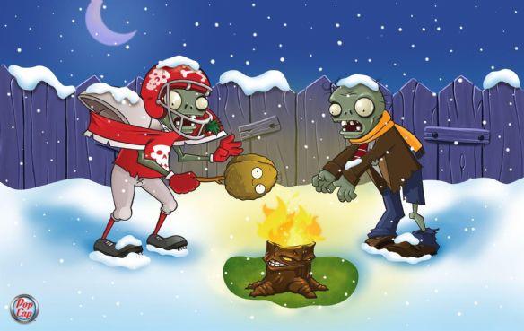 《植物大战僵尸》精美圣诞壁纸—7(1)