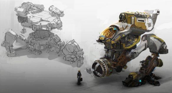 """科幻战争机器!机甲单车""""橙色5号""""随时候命"""