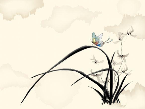 淡雅清新中国风 水墨风景高清壁纸