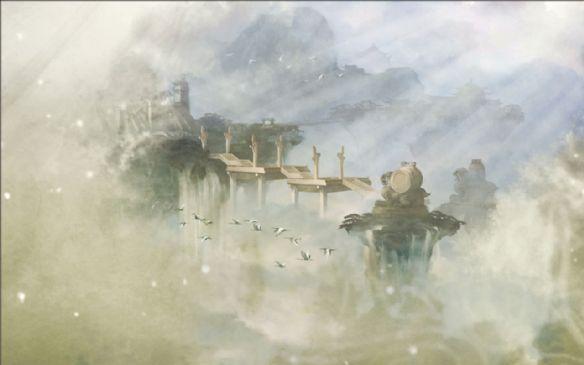 仙剑5水墨风景图壁纸 梦幻唯美背景