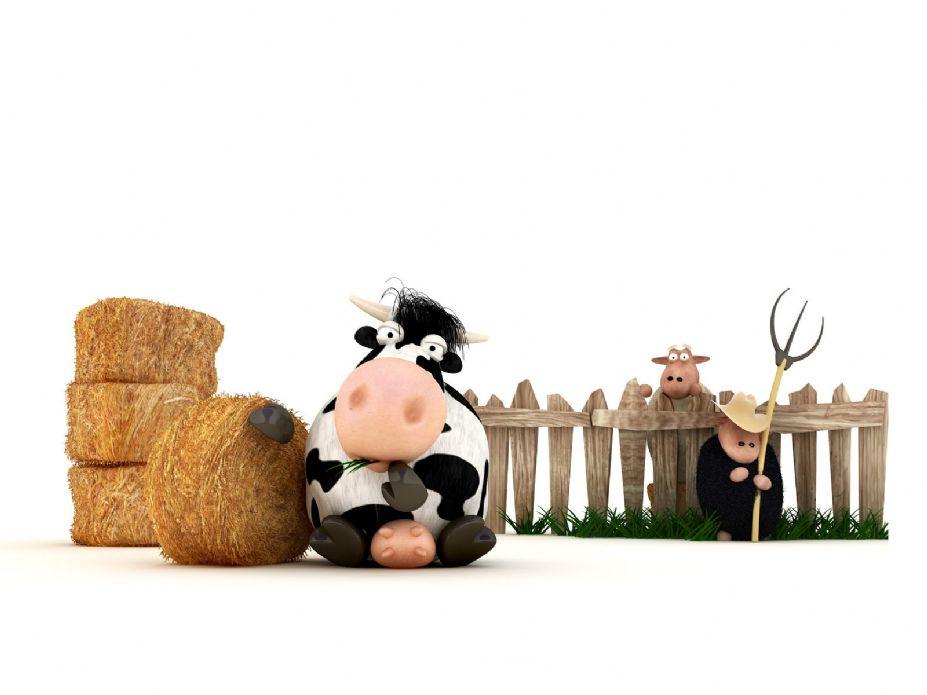 可爱卡通牛牛桌面壁纸(2)
