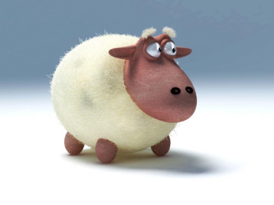 这头牛很会卖萌 可爱卡通牛牛桌面壁纸(6)