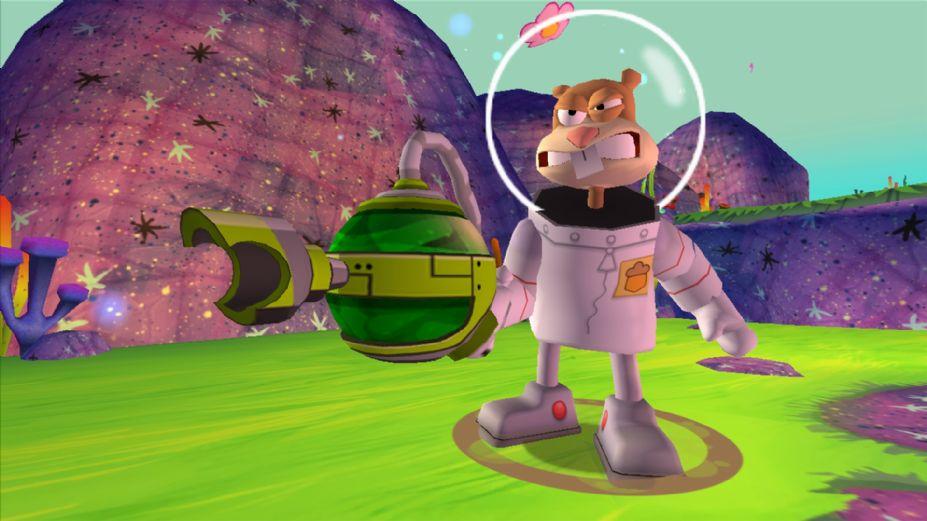 《海绵宝宝:痞老板机器人复仇》游戏截图(2); 海绵宝宝 皮老板机器人