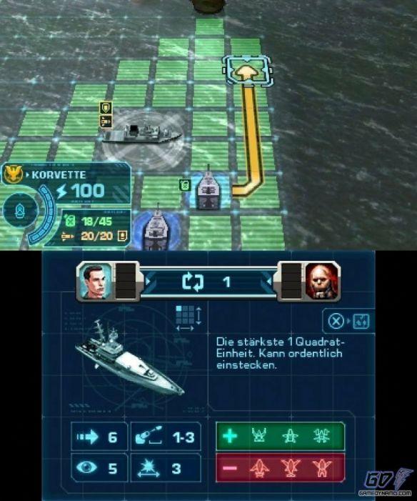 《战舰》3ds版游戏截图
