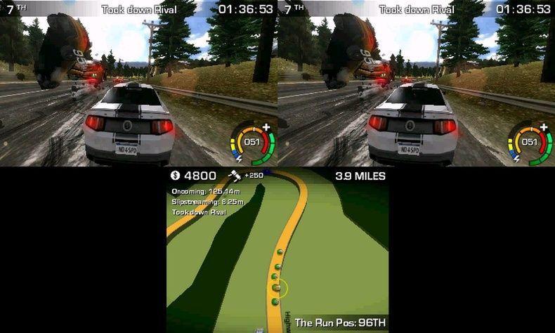 《极品飞车16:亡命狂飙》3DS版游戏截图