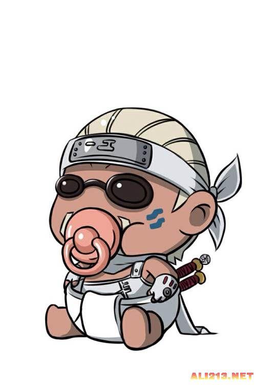 奶嘴系列动漫人物 含着奶嘴感觉不会再爱了!