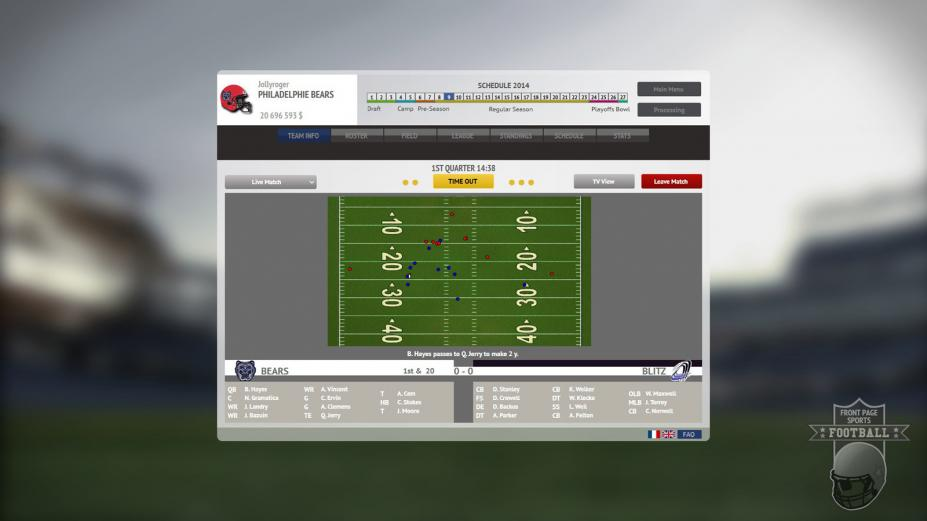 《体育头版:橄榄球》游戏截图