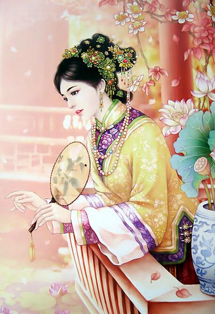 唯美古风美女手绘图欣赏