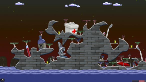 《百战天虫:世界派对重制版》游戏截图