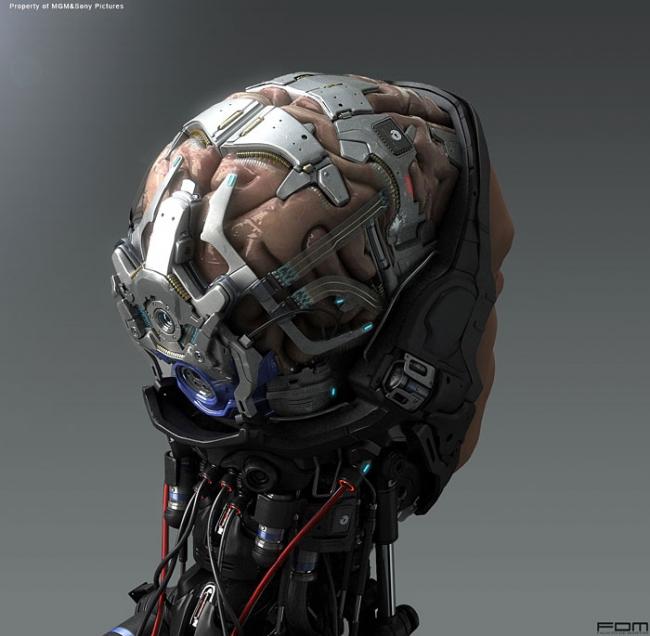 浓浓的未来科技感!超科幻味机械士兵原画cg欣赏