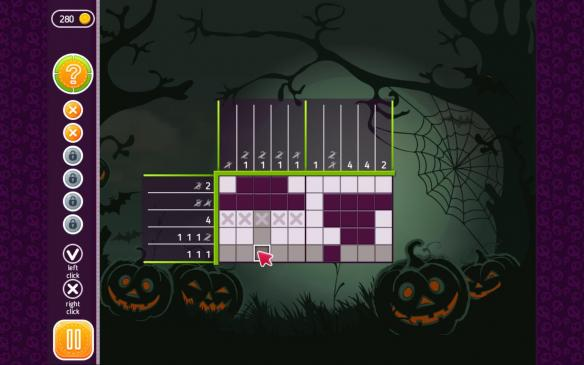 《万圣节谜语:神秘的格子》游戏截图