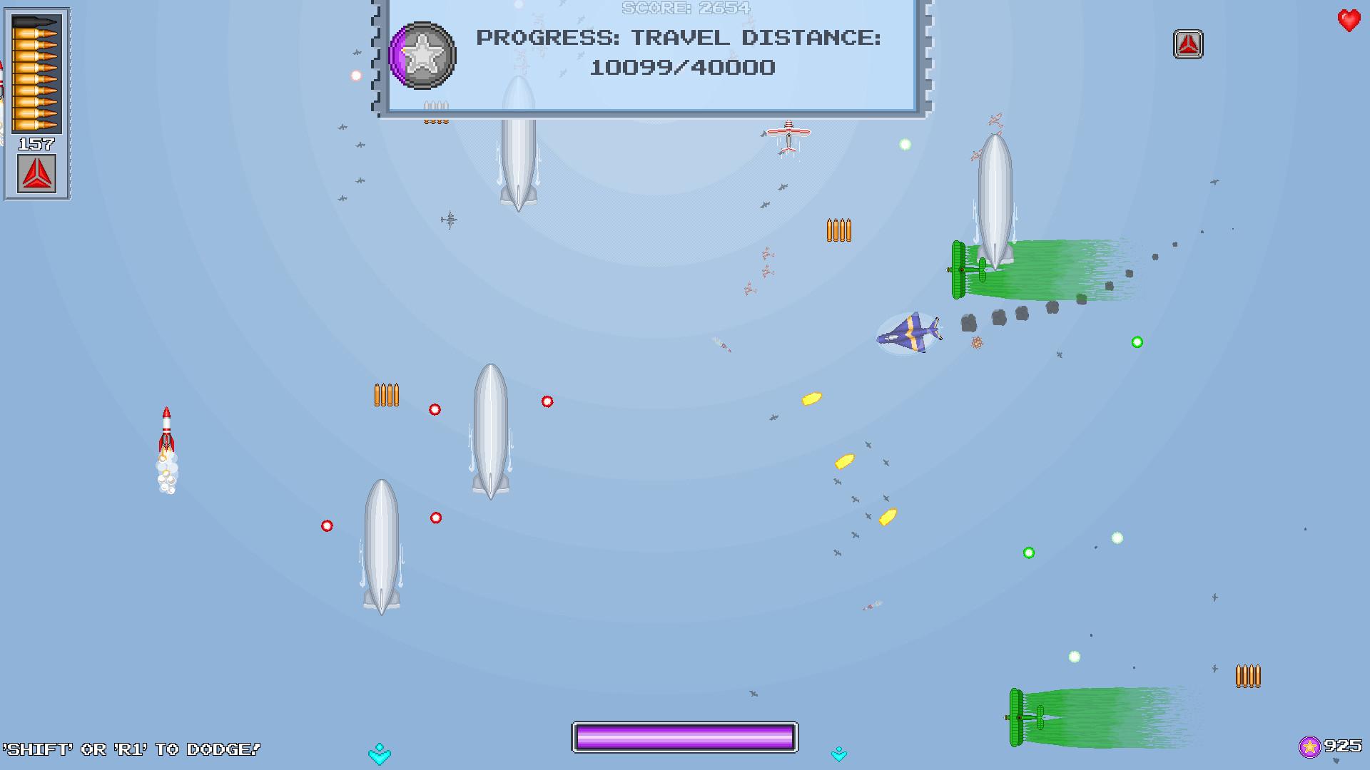 游戏特色:   10种不同的可解锁的飞机,每一个都有自己的特色.