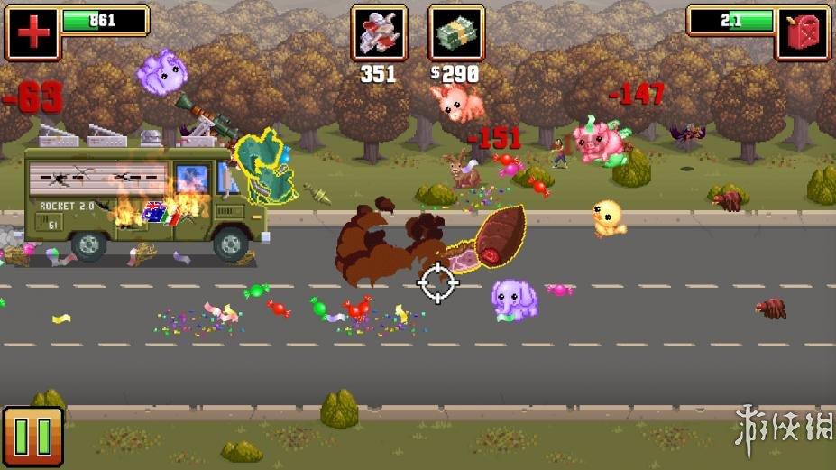 《枪炮卷饼卡车》游戏截图(1)