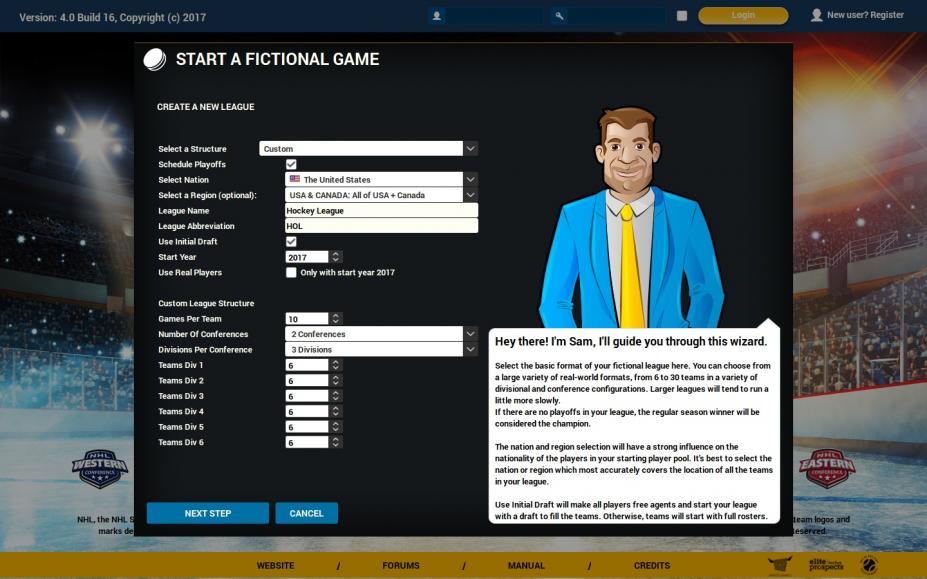 《特许经营曲棍球经理4》游戏截图