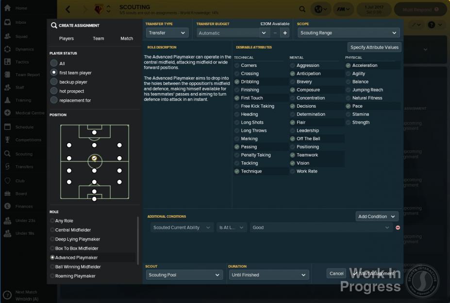《足球经理2018》游戏截图