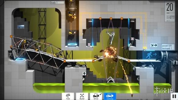 《传送门:桥梁构造者》游戏截图