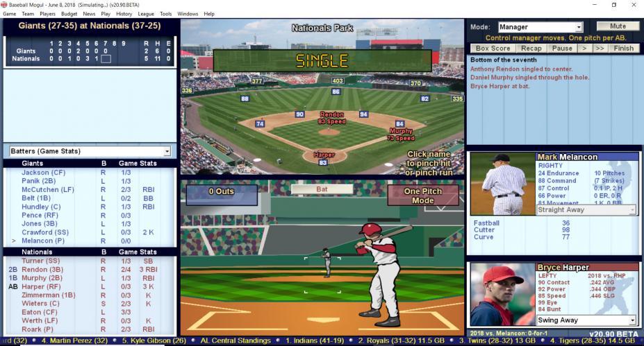 《棒球巨星2018》游戏截图