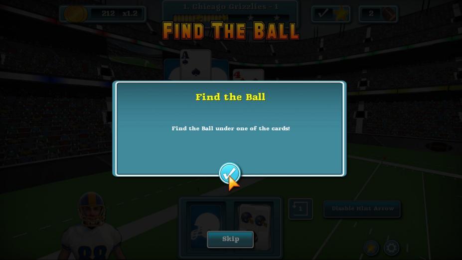 《触地橄榄球纸牌》游戏截图