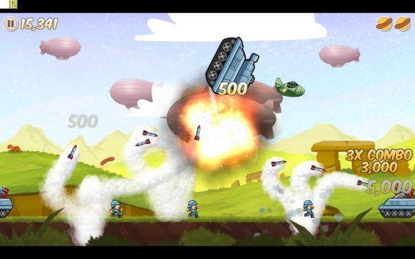 《香肠轰炸机》游戏截图