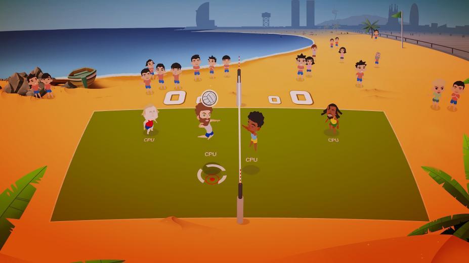 《超级爆裂排球》游戏截图