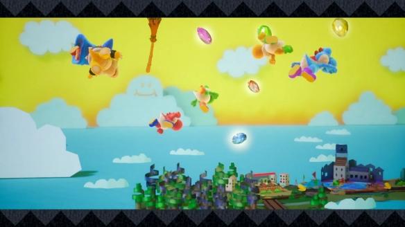 《耀西的手工世界》游戏截图