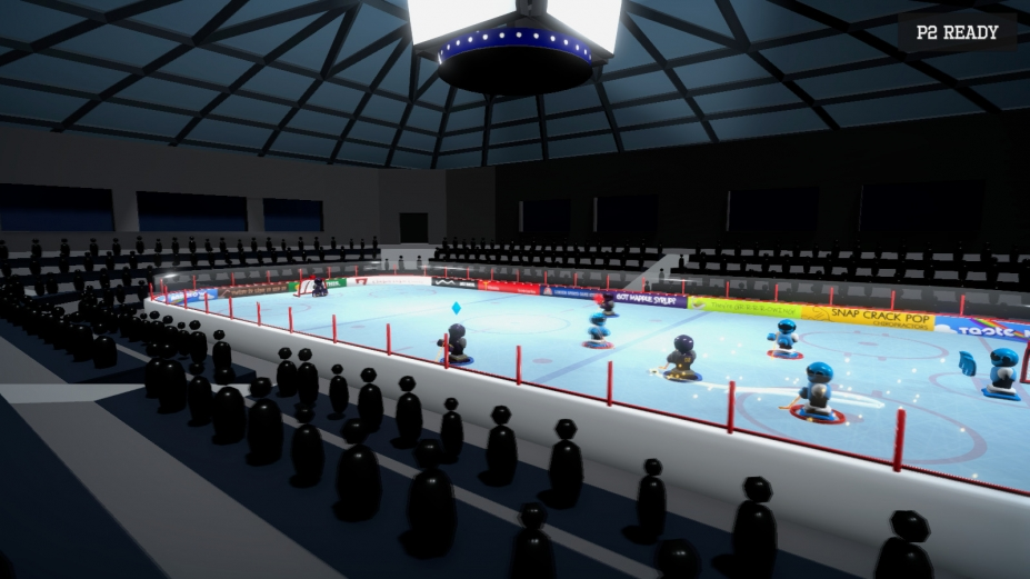 《3对3超级机器人冰球》游戏截图