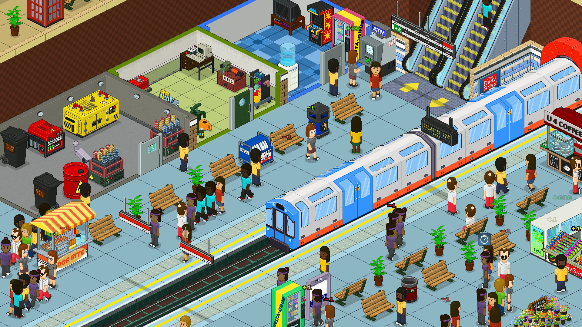 通勤:地铁站/Overcrowd: A Commute Em Up插图
