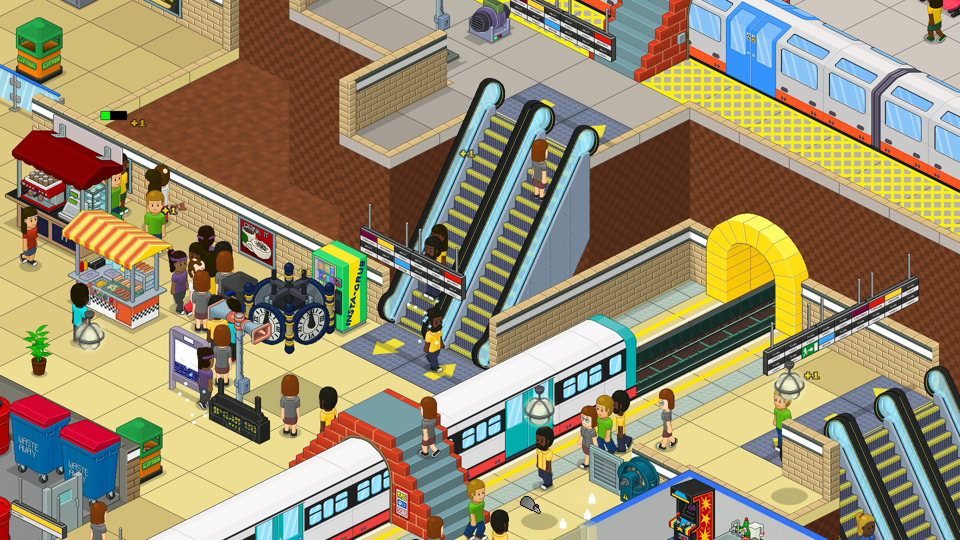 通勤:地铁站/Overcrowd: A Commute Em Up插图1