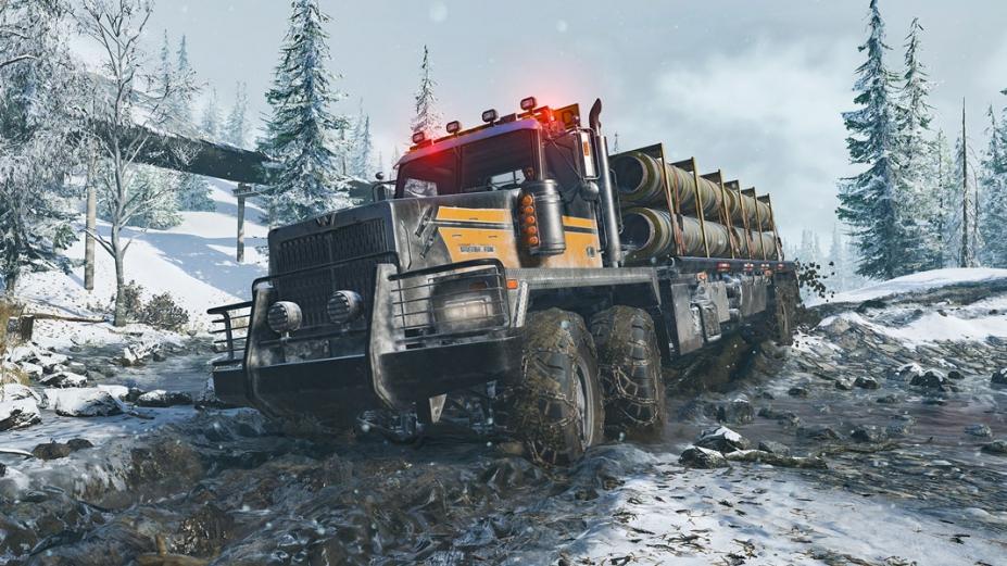 《雪地奔馳》游戲截圖