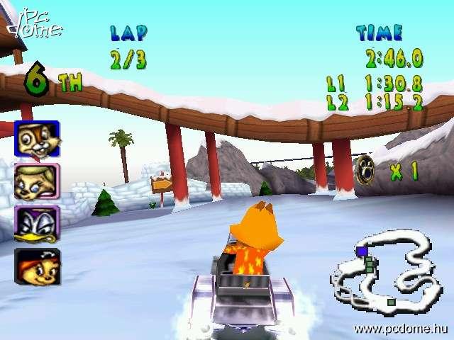 Disneys World Quest: Magical Racing Tour 是一款由迪士尼卡通角色所制作的赛车游戏,玩家可在赛事中获得道具去夺取冠军。虽然看起来就像是为专门迪士尼打造广告的游戏,不过,真的是满酷的。 游戏评测 画 面: 游戏背景就在美丽缤纷的迪士尼世界中,如同真实世界一般有各式各样的风景,捷径,和许多补充站。整个游戏的画面仍然十分流畅,也不会因为同时有太多辆车出现,画面的架构就出现瑕疵。 声 音: 童话色彩的音乐和速度感十足的音效为游戏增加了活泼的气氛,好的音乐搭配才能使游戏更加