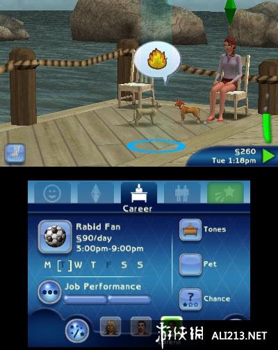 《模拟人生3 宠物》3DS截图