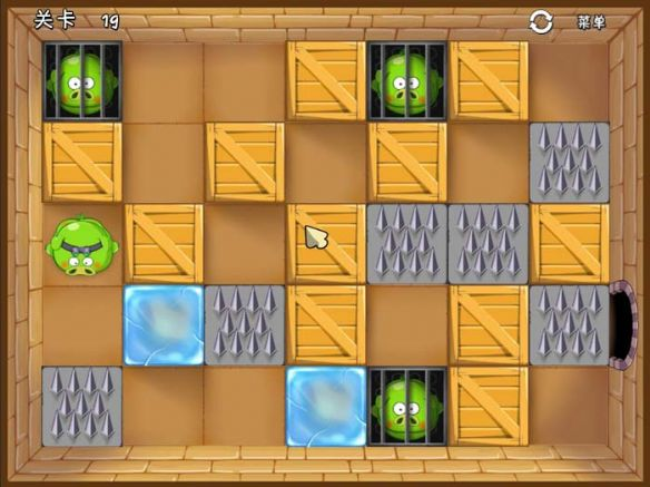 《绿猪推箱子》游戏中文截图
