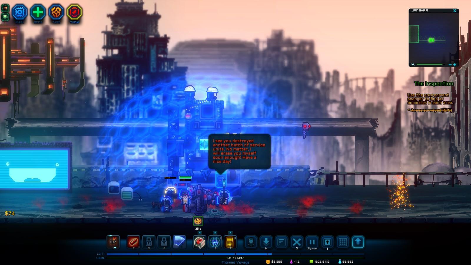 像素星际海盗游戏图片欣赏