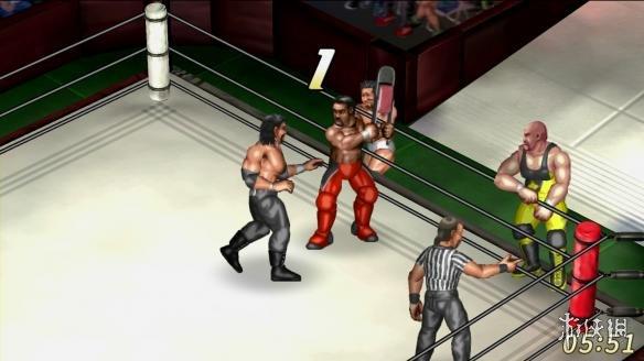 《超火爆摔角世界》游戏截图
