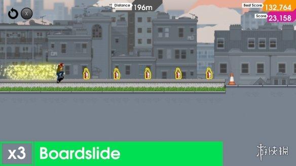 《像素滑板:变换姿态》游戏截图